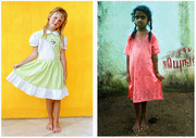 Girl in India and in